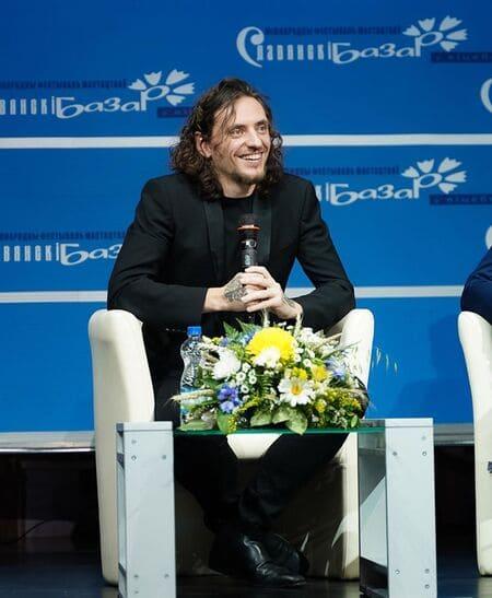 Сергей Полунин на пресс-конференции в Витебске