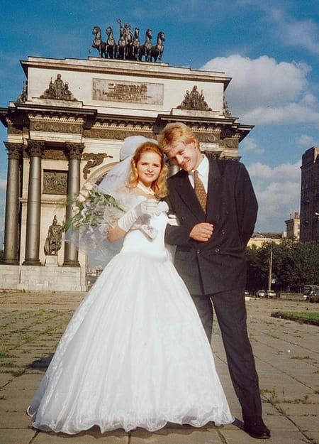Екатерина Солоцинская и Дмитрий Песков в день свадьбы