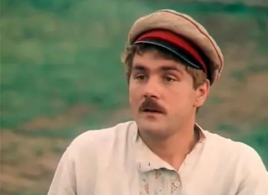 Сергей Маковецкий. Кадр из картины «Я, сын трудового народа», 1983 г.