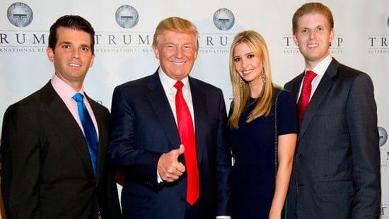 Дональд Трамп с тремя старшими детьми