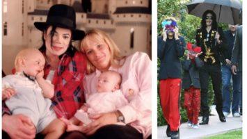 Майкл Джексон с женой и детьми