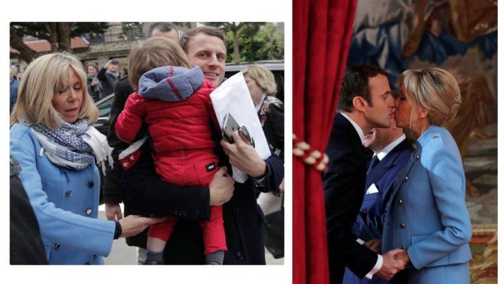 Макроны с внуком