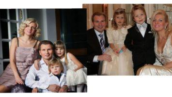 Маленькие Фрол и Устинья Малинины с родителями