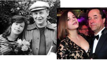 Александра Табакова с отцом. Полина Лиферс с отцом