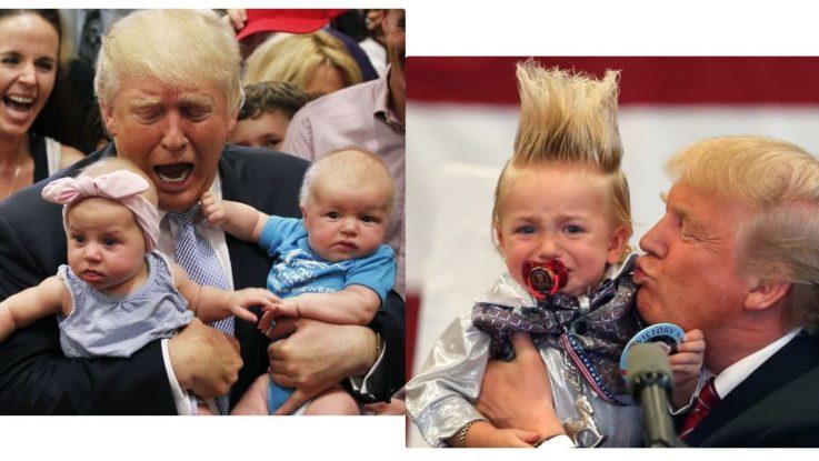 Трамп с детьми избирателей