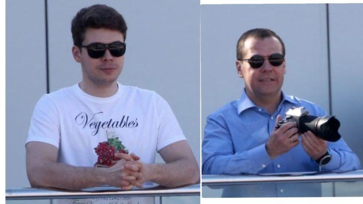 Илья Медведев и его отец Дмитрий Медведев