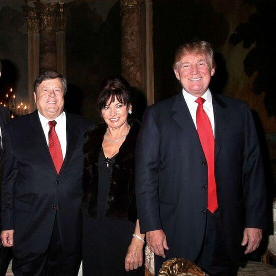 Родители Мелании Трамп с Дональдом
