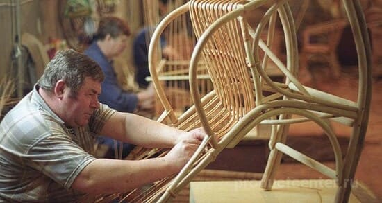 Производство мебели на Кобяковской фабрике лозоплетения