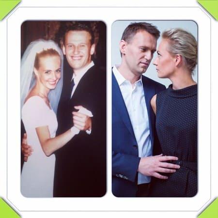 Юлия Навальная в молодости и сейчас