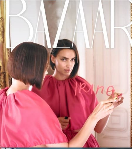 Ирина на цифровой обложке BAZAAR, июль 2019 г.