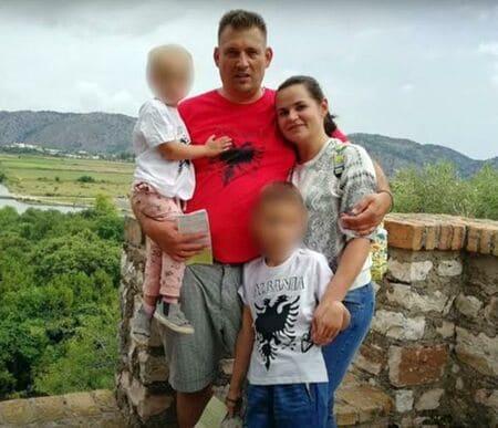 Светлана с мужем Сергеем и детьми