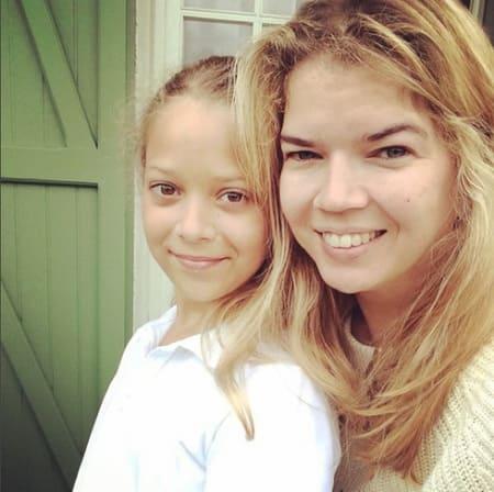 Виктория Галушка с дочерью
