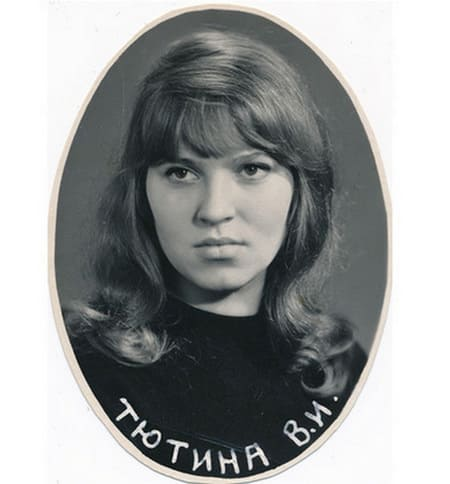 Валентина Тютина в молодости