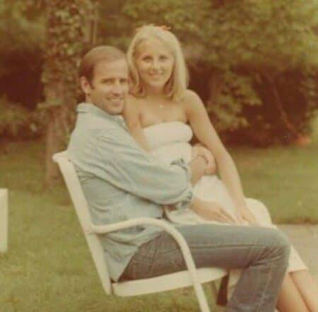 Джилл Байден в молодости с мужем