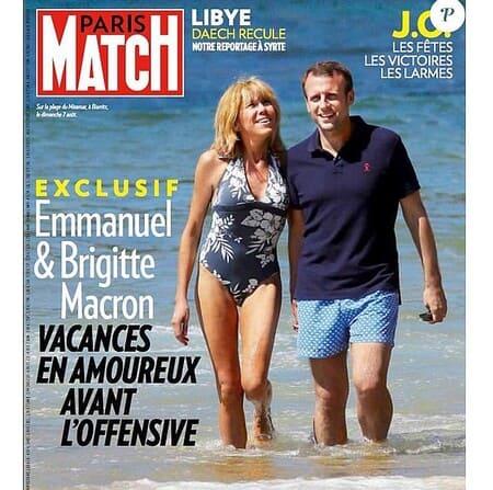 Брижит и Эммануэль Макрон на обложке журнала