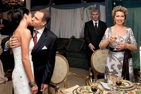 Светлана Медведева на свадьбе Чащиной