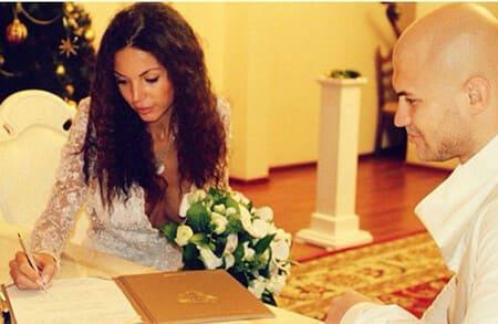 Свадебное фото Джигана и Оксаны Самойловой