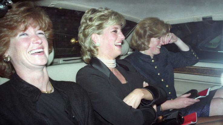Принцесса Диана с сестрами Сарой и Джейн