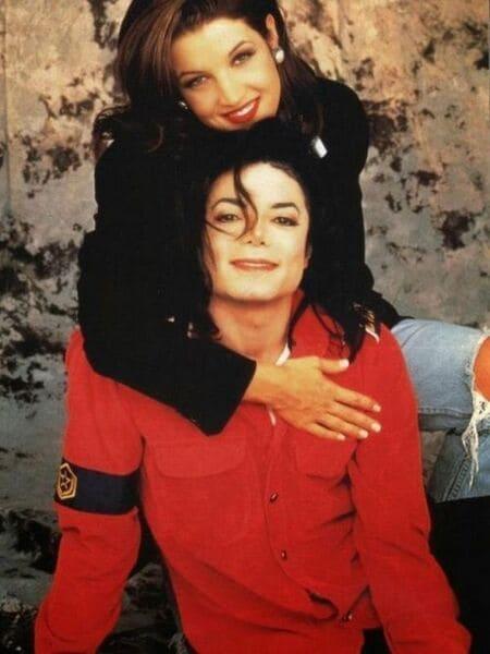 Счастливые Майкл Джексон и Лиза Мария Пресли