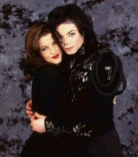 Первые фото поженившихся Майкла Джексона и Лизы Пресли