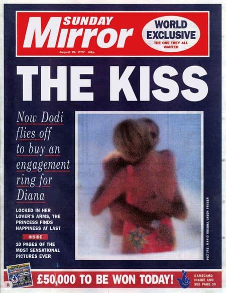 Поцелуй Дианы и Доди аль-Файеда на обложке