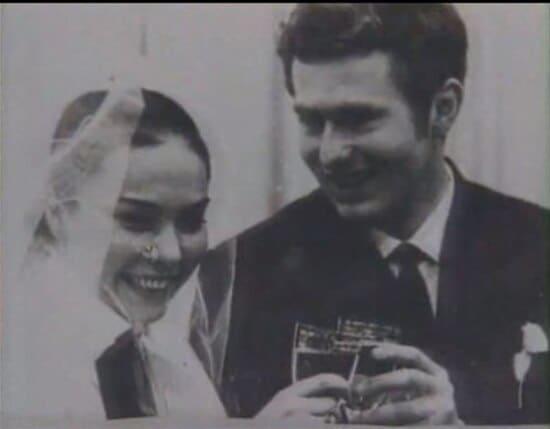 Свадебное фото Жириновского и Галины Лебедевой