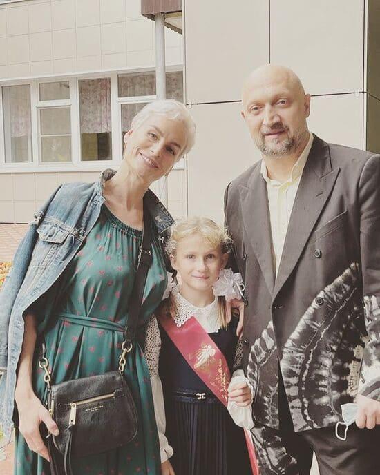 Куценко с женой и дочерью