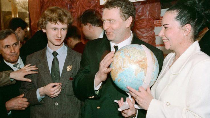 Жириновский с женой и сыном